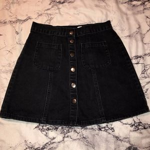 BDG Denim Button up Skirt